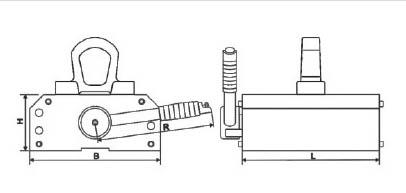 PML薄板永磁起重器结构图